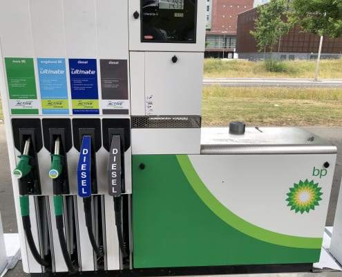 Tankstations-BP-Pompen